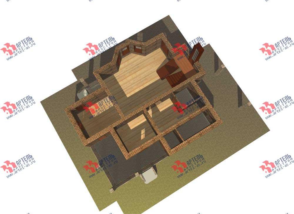 двухэтажный дом из камня площадью свыше 200 кв. м. с  балконом, террасой, эркером, проект Вариант 11 фотография 554