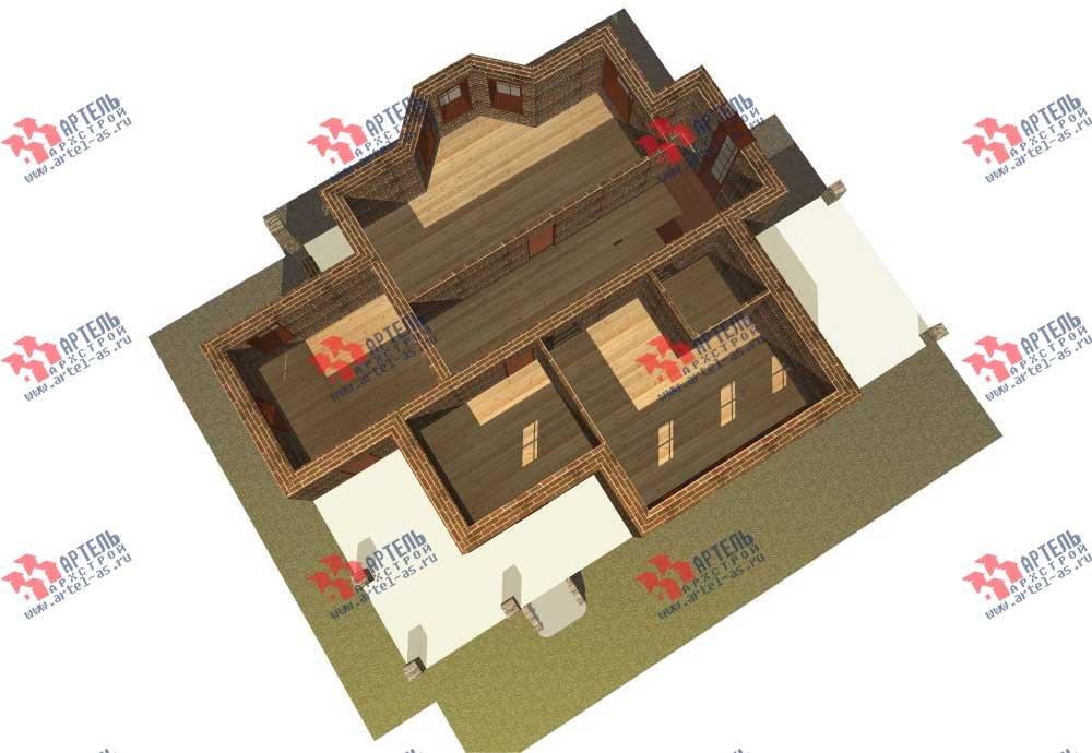 двухэтажный дом омбинированные дома площадью свыше 200 кв. м. с  балконом, террасой, эркером, проект Вариант 11 фотография 555