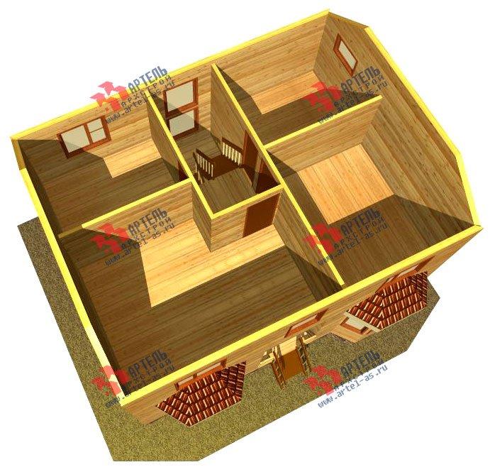 двухэтажный дом из бруса площадью от 100 до 150 кв. м. с  мансардой, эркером, проект Вариант 7 Б фотография 919