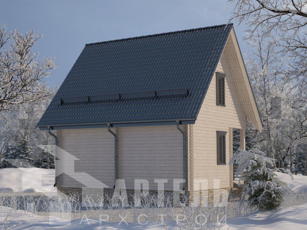 двухэтажный дом из профилированного бруса площадью до 100 кв. м. с  мансардой, проект Вариант 6 Д фотография 6570
