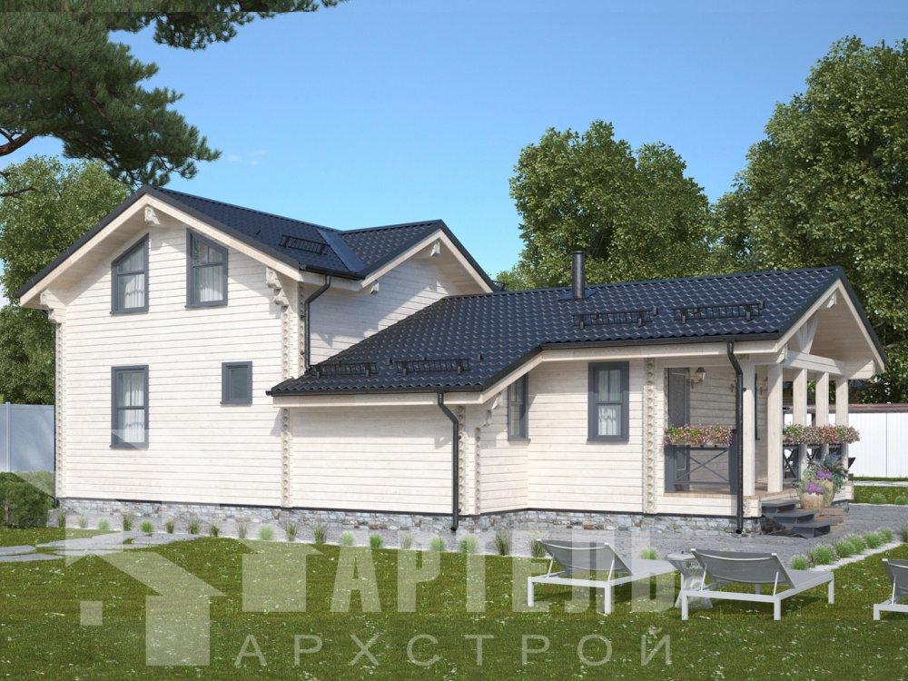 двухэтажный дом из профилированного бруса площадью от 100 до 150 кв. м., проект Вариант 13.3 А фотография 6587