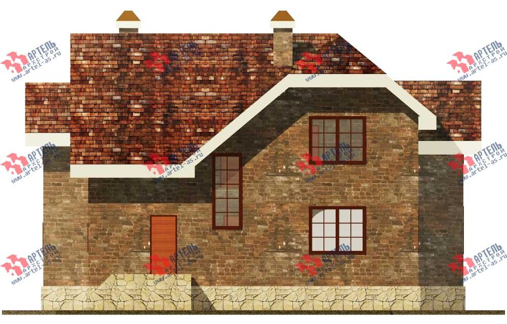 двухэтажный дом из камня площадью от 150 до 200 кв. м. с  террасой, эркером, проект Вариант 12 фотография 562