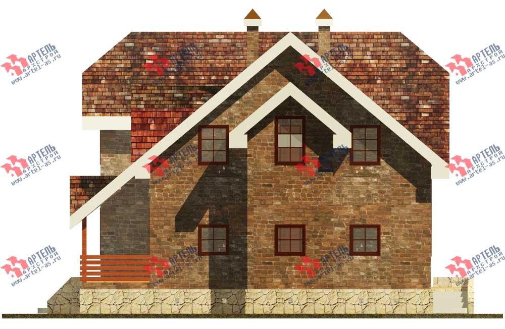 двухэтажный дом из камня площадью от 150 до 200 кв. м. с  террасой, эркером, проект Вариант 12 фотография 563