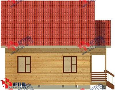 двухэтажный дом из бруса площадью от 100 до 150 кв. м. с  верандой, мансардой, эркером, проект Вариант 8 Е фотография 1036