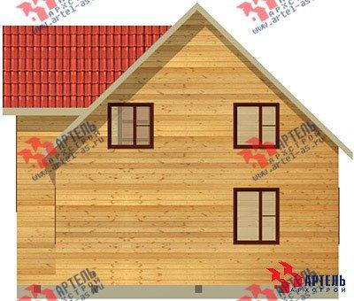 двухэтажный дом из бруса площадью от 100 до 150 кв. м. с  верандой, мансардой, эркером, проект Вариант 8 Е фотография 1037