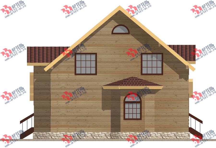 двухэтажный дом из бруса площадью свыше 200 кв. м. с  балконом, террасой, эркером, проект Вариант 13.3 А фотография 3709