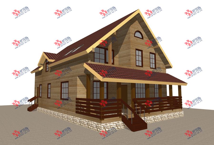 двухэтажный дом из бруса площадью свыше 200 кв. м. с  балконом, террасой, эркером, проект Вариант 13.3 А фотография 3705
