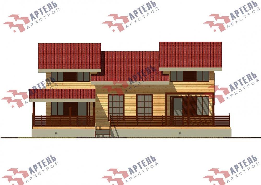 двухэтажный дом из профилированного бруса площадью свыше 200 кв. м. с  верандой, мансардой, проект Вариант 13.7 А фотография 4629