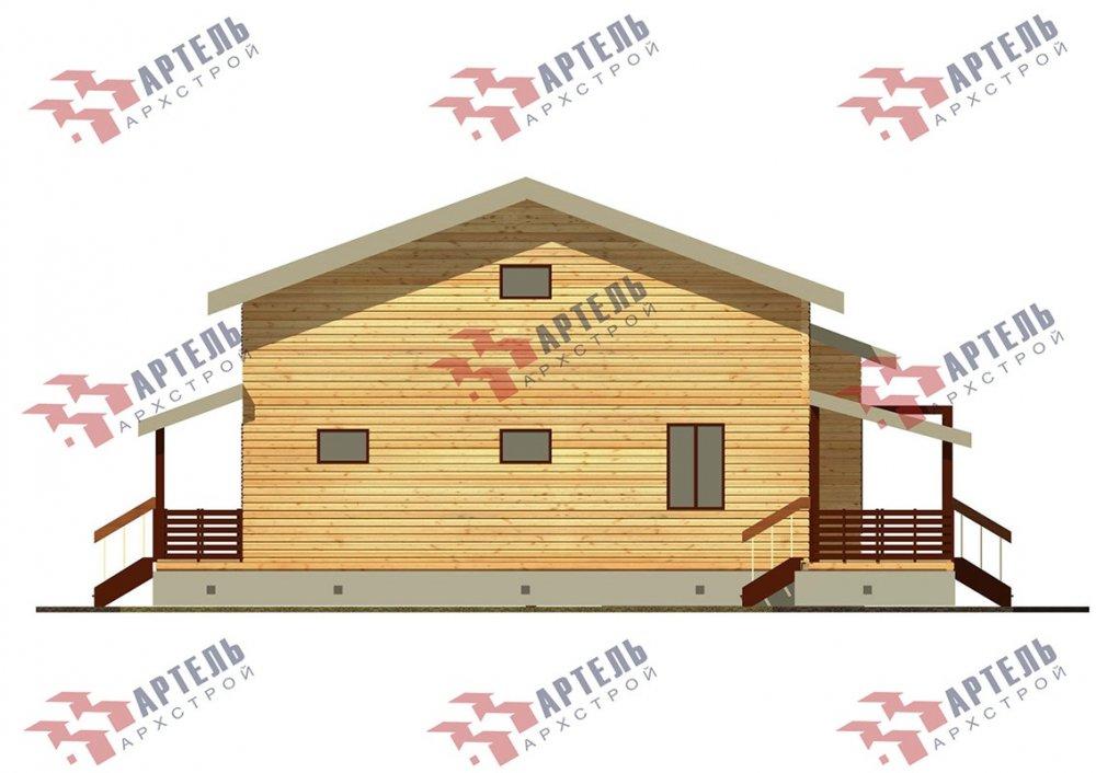 двухэтажный дом из профилированного бруса площадью свыше 200 кв. м. с  верандой, мансардой, проект Вариант 13.7 А фотография 4631