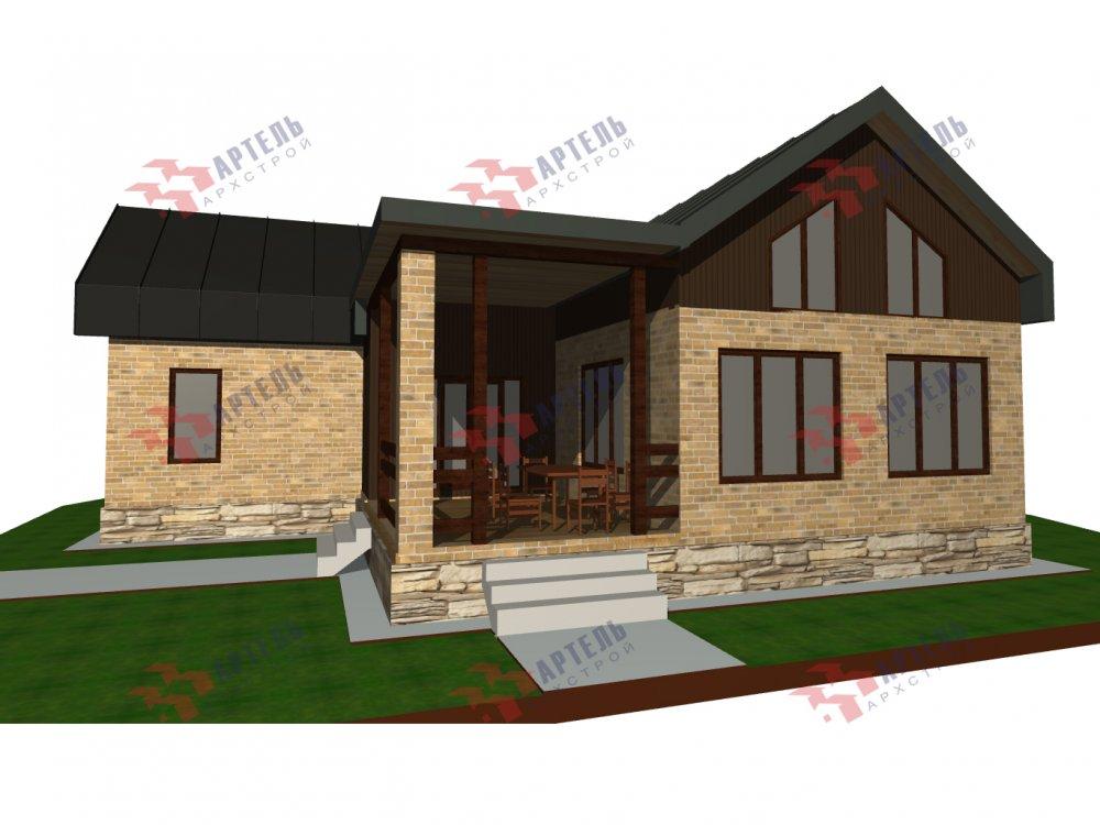 дом омбинированные дома, проект Вариант 14Т Камень и Комбинированный фотография 6316