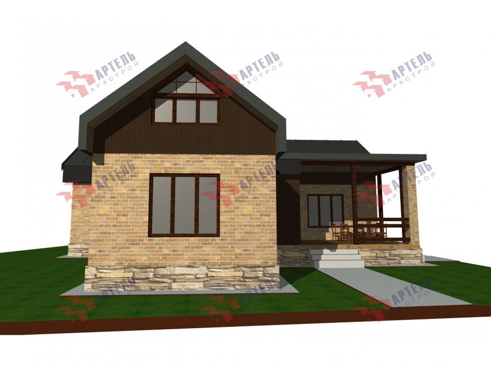 дом омбинированные дома, проект Вариант 14Т Камень и Комбинированный фотография 6317