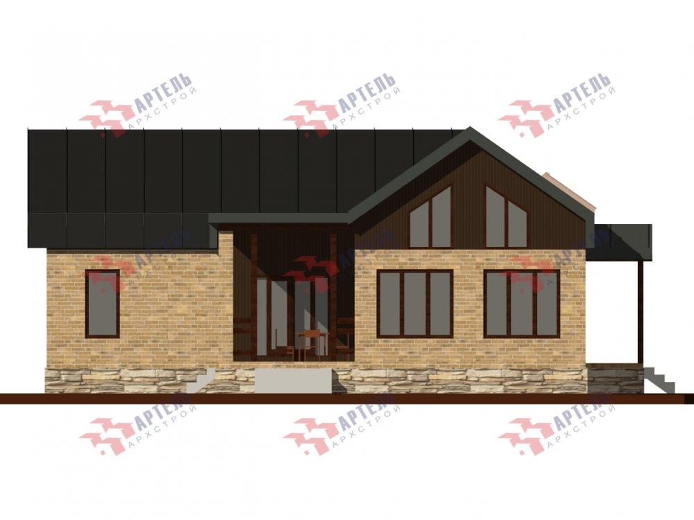 дом омбинированные дома, проект Вариант 14Т Камень и Комбинированный фотография 6319