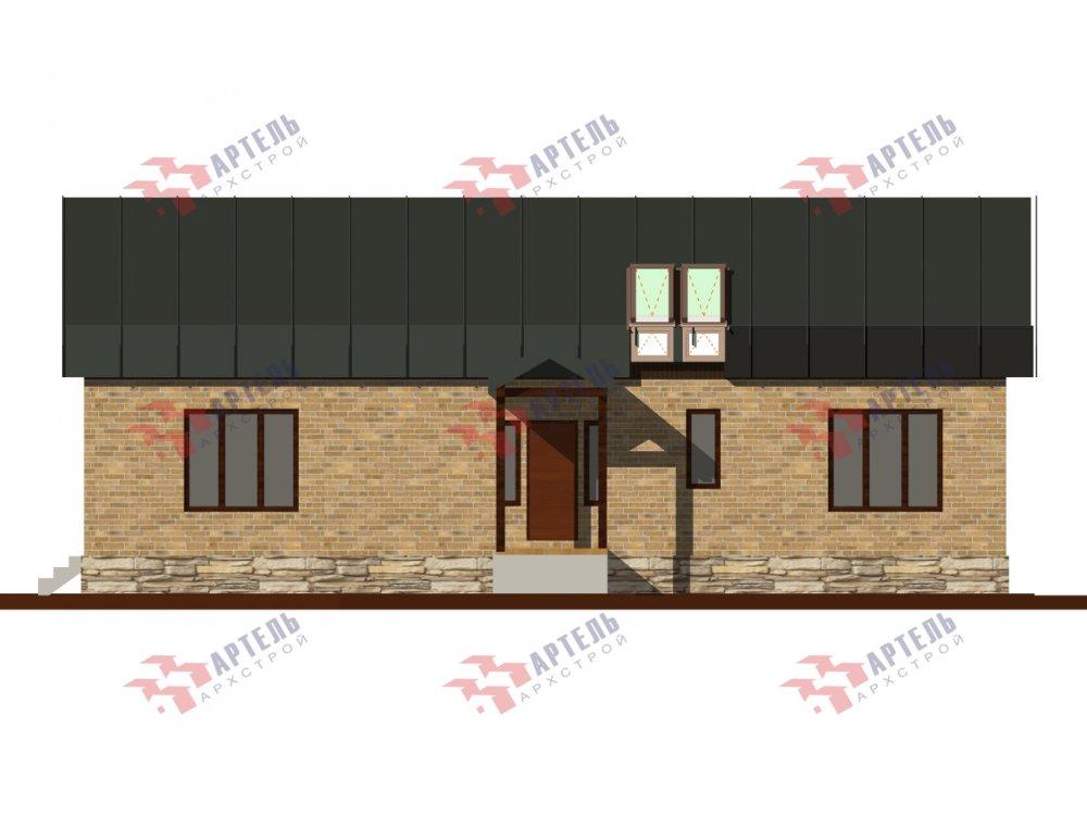 дом омбинированные дома, проект Вариант 14Т Камень и Комбинированный фотография 6321
