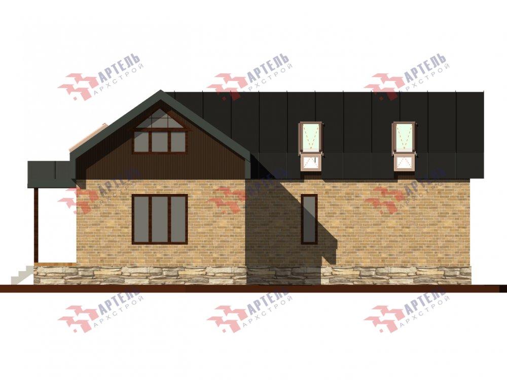 дом омбинированные дома, проект Вариант 14Т Камень и Комбинированный фотография 6320