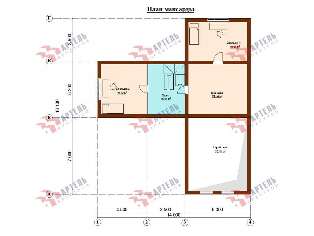 дом омбинированные дома, проект Вариант 14Т Камень и Комбинированный фотография 6323