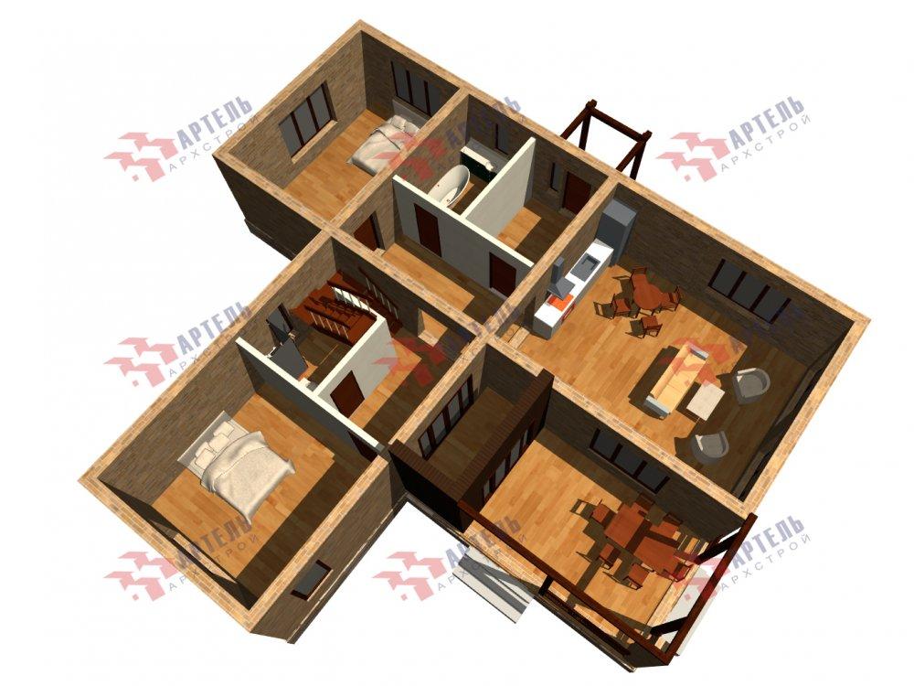 дом омбинированные дома, проект Вариант 14Т Камень и Комбинированный фотография 6324