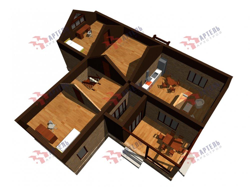 дом омбинированные дома, проект Вариант 14Т Камень и Комбинированный фотография 6325