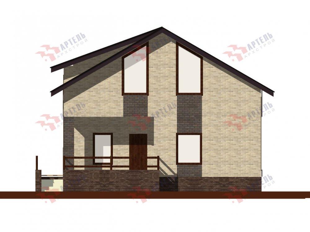 двухэтажный дом омбинированные дома площадью от 150 до 200 кв. м. с  балконом, проект Вариант 15 фотография 6437