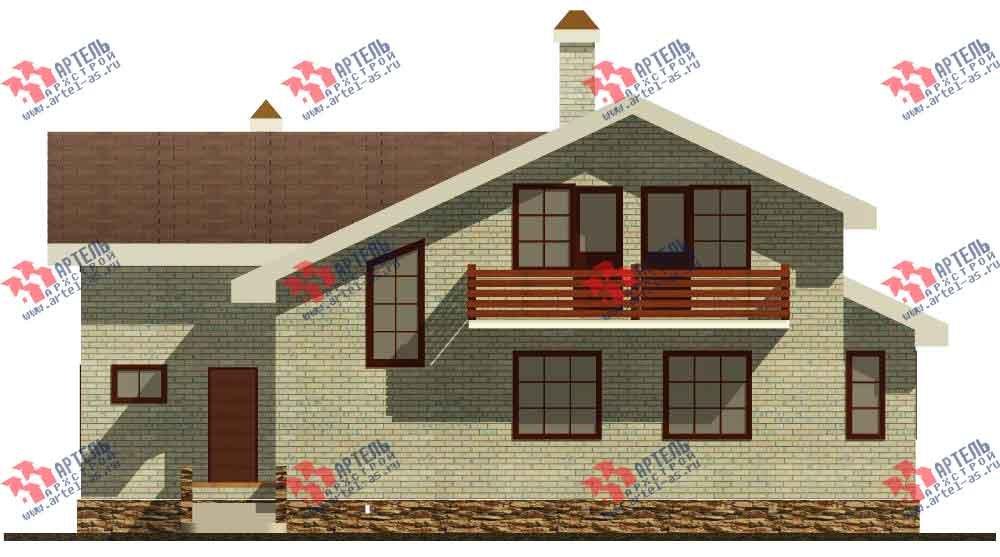 двухэтажный дом из камня площадью от 150 до 200 кв. м. с  балконом, эркером, проект Вариант 14 фотография 581