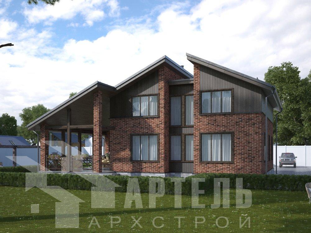 дом омбинированные дома площадью от 150 до 200 кв. м. с  мансардой, проект Вариант 14,2А Камень и Комбинированный фотография 6167