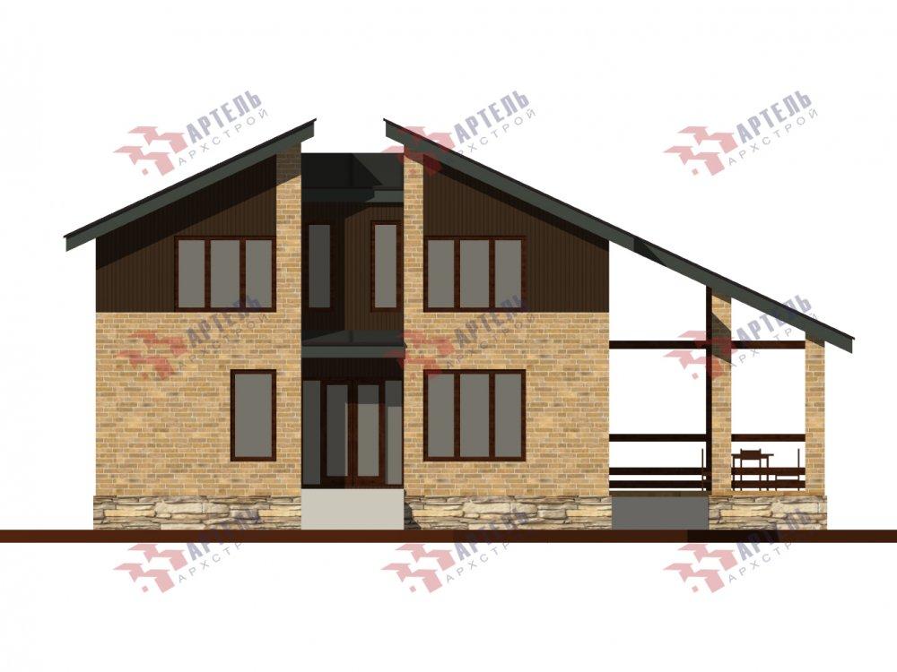 дом омбинированные дома площадью от 150 до 200 кв. м. с  мансардой, проект Вариант 14,2А Камень и Комбинированный фотография 6179