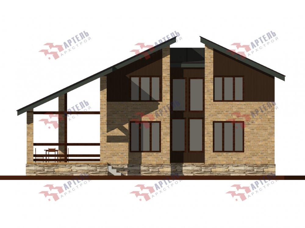 дом омбинированные дома площадью от 150 до 200 кв. м. с  мансардой, проект Вариант 14,2А Камень и Комбинированный фотография 6181