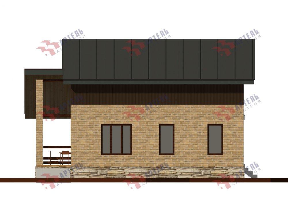 дом из камня площадью от 150 до 200 кв. м., проект Каменный Вариант 14,2А фотография 6182