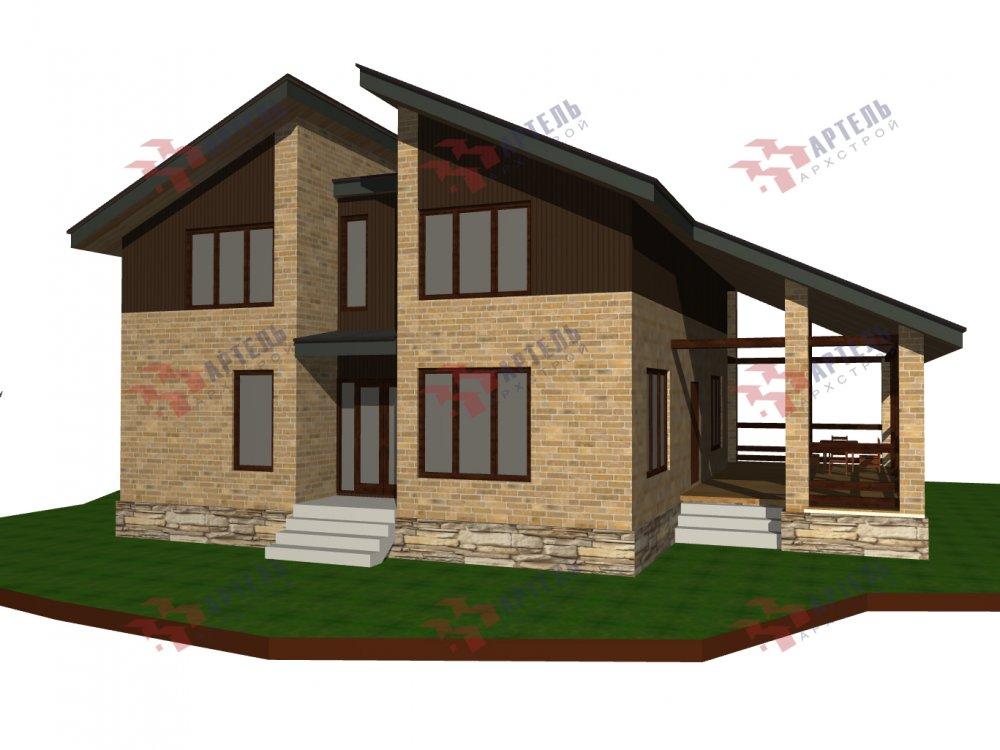 дом омбинированные дома площадью от 150 до 200 кв. м. с  мансардой, проект Вариант 14,2А Камень и Комбинированный фотография 6183