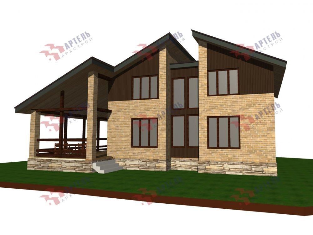 дом омбинированные дома площадью от 150 до 200 кв. м. с  мансардой, проект Вариант 14,2А Камень и Комбинированный фотография 6184