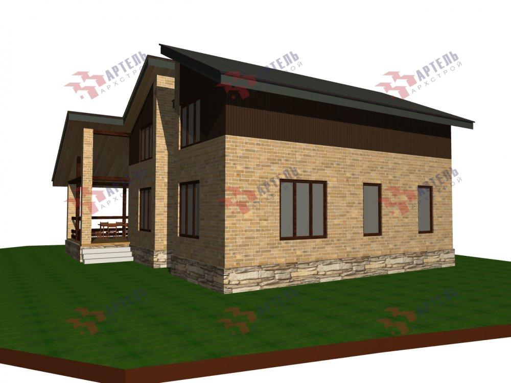 дом омбинированные дома площадью от 150 до 200 кв. м. с  мансардой, проект Вариант 14,2А Камень и Комбинированный фотография 6185