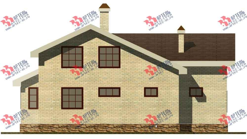двухэтажный дом из камня площадью от 150 до 200 кв. м. с  балконом, эркером, проект Вариант 14 фотография 583
