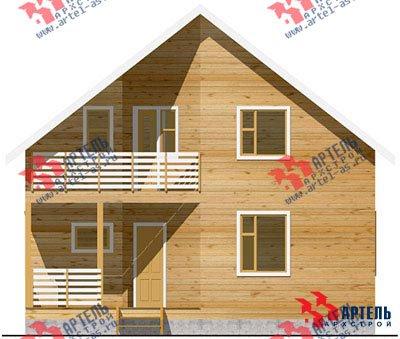 двухэтажный дом из бруса площадью от 150 до 200 кв. м. с  балконом, террасой, эркером, проект Вариант 9 Д фотография 1258