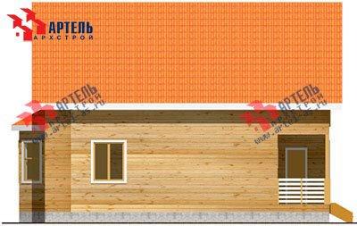 двухэтажный дом из бруса площадью от 150 до 200 кв. м. с  балконом, террасой, эркером, проект Вариант 9 Д фотография 1259
