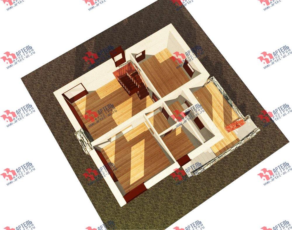 двухэтажный дом из камня площадью от 150 до 200 кв. м. с  балконом, проект Вариант 15 фотография 596