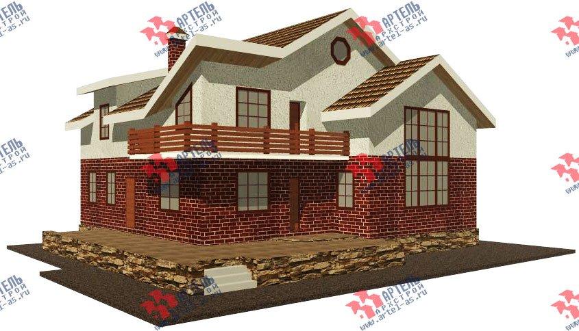 двухэтажный дом из камня площадью свыше 200 кв. м. с  балконом, террасой, проект Вариант 16 фотография 602