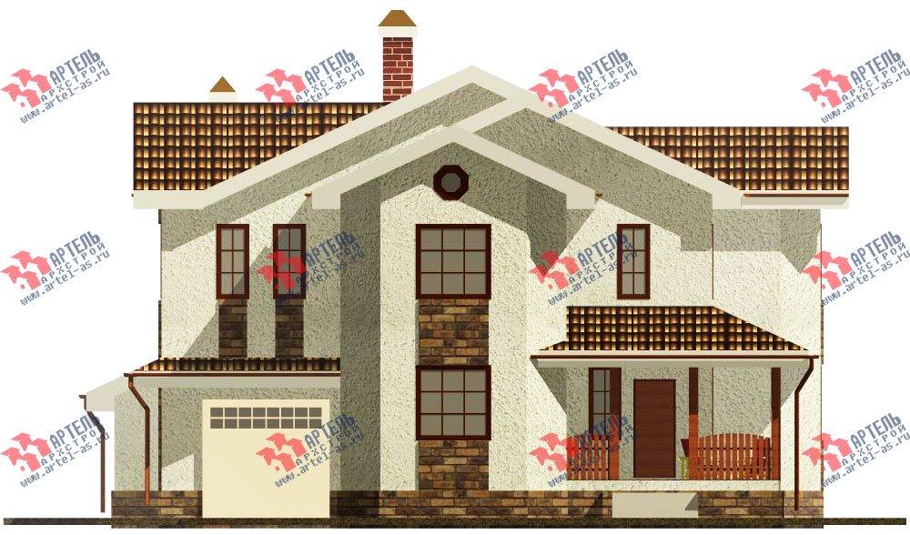 двухэтажный дом омбинированные дома площадью свыше 200 кв. м. с  эркером, проект Вариант 17 фотография 614