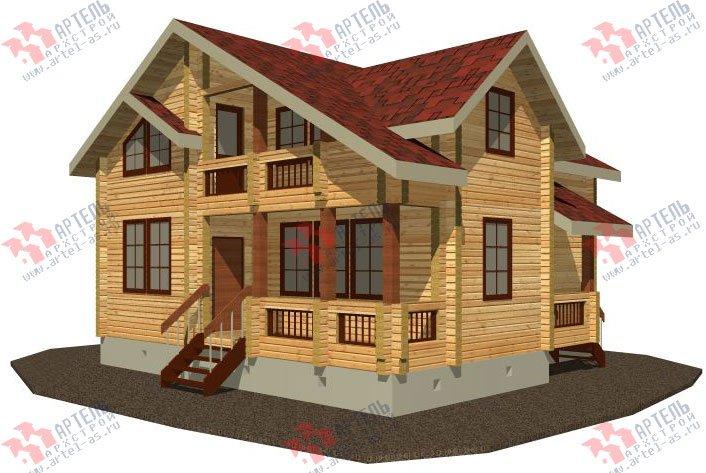 двухэтажный дом из профилированного бруса площадью от 100 до 150 кв. м. с  балконом, проект Вариант 9.5 К фотография 67
