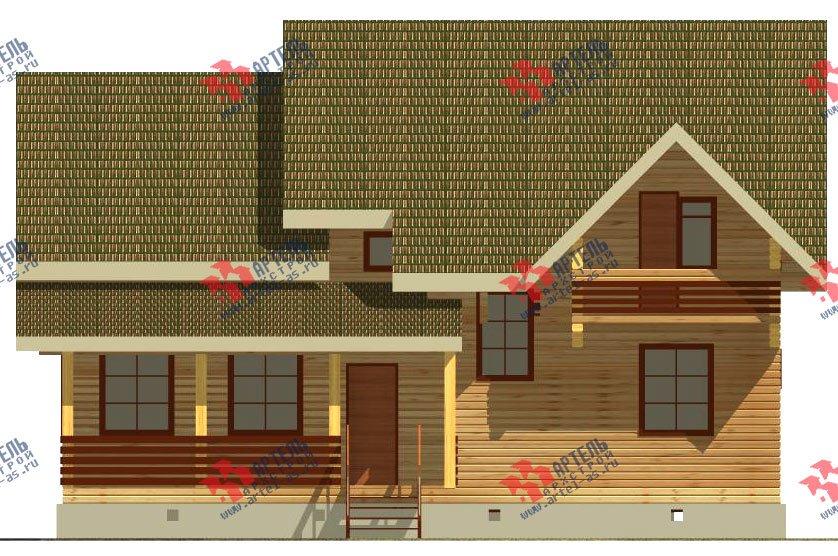 двухэтажный дом из бруса площадью от 150 до 200 кв. м. с  балконом, террасой, эркером, проект Вариант 12.4 А фотография 2679