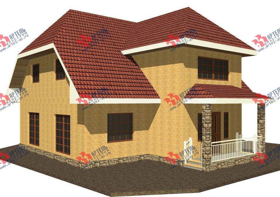 двухэтажный дом из камня площадью свыше 200 кв. м. с  верандой, проект Вариант 22 фотография 2691