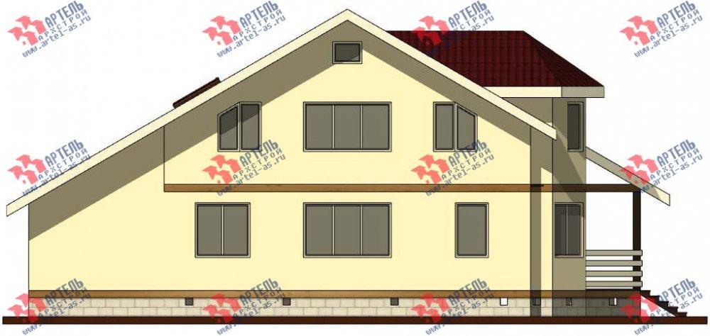 двухэтажный дом из бруса площадью от 150 до 200 кв. м. с  мансардой, террасой, эркером, проект Вариант 10 фотография 3005