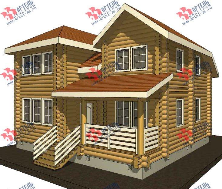 двухэтажный дом из оцилиндрованного бревна площадью от 150 до 200 кв. м. с  мансардой, проект Вариант 7 фотография 3101