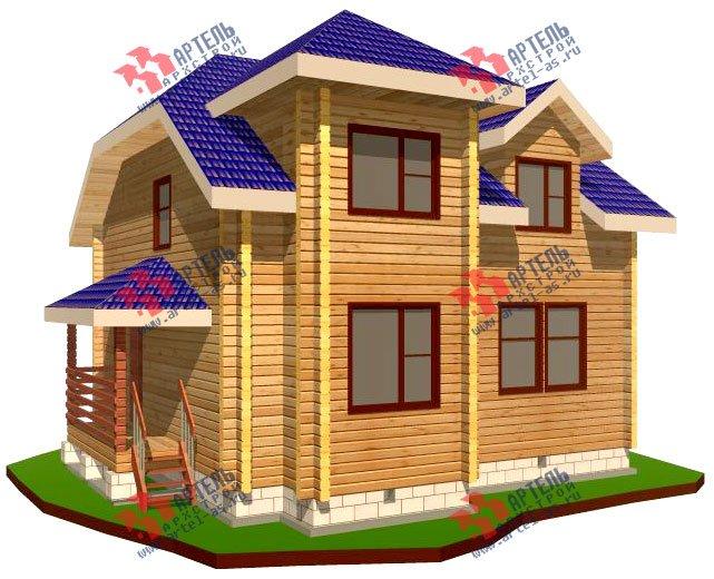 двухэтажный дом из профилированного бруса площадью от 100 до 150 кв. м. с  мансардой, эркером, проект Вариант 8 Т фотография 241