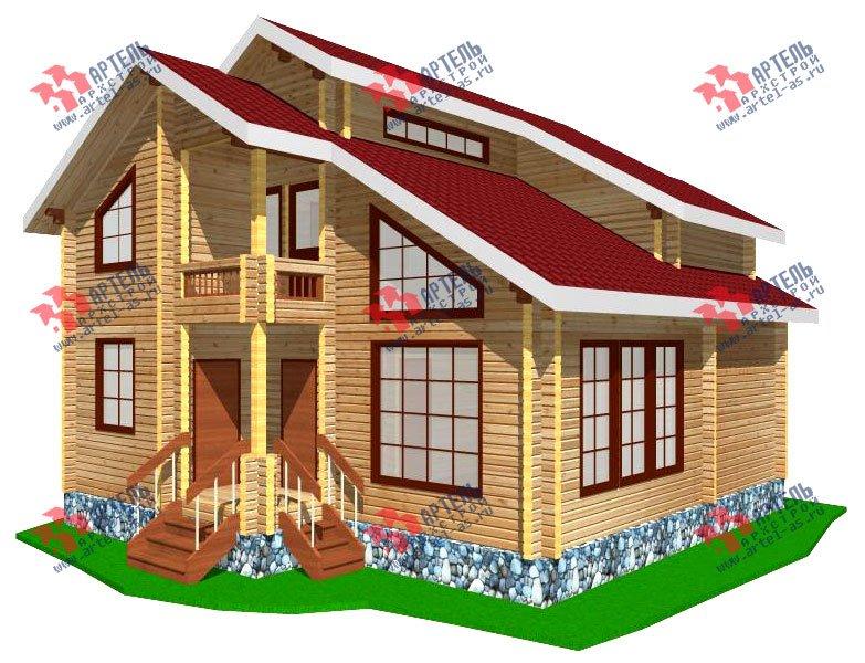 двухэтажный дом из профилированного бруса площадью от 100 до 150 кв. м. с  балконом, мансардой, проект Вариант 9.3 К фотография 252