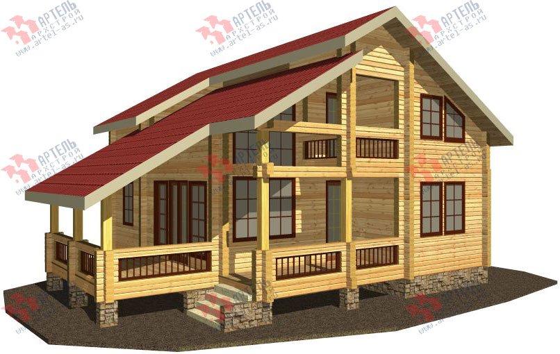 двухэтажный дом из профилированного бруса площадью от 150 до 200 кв. м. с  балконом, мансардой, террасой, проект Вариант 8.6 К фотография 328