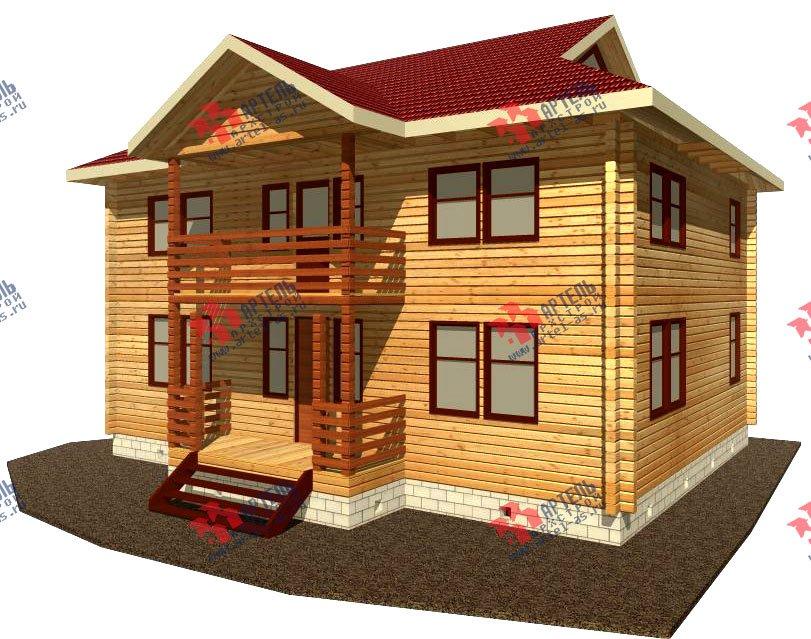 двухэтажный дом из профилированного бруса площадью свыше 200 кв. м. с  балконом, проект Вариант 9 Т фотография 416