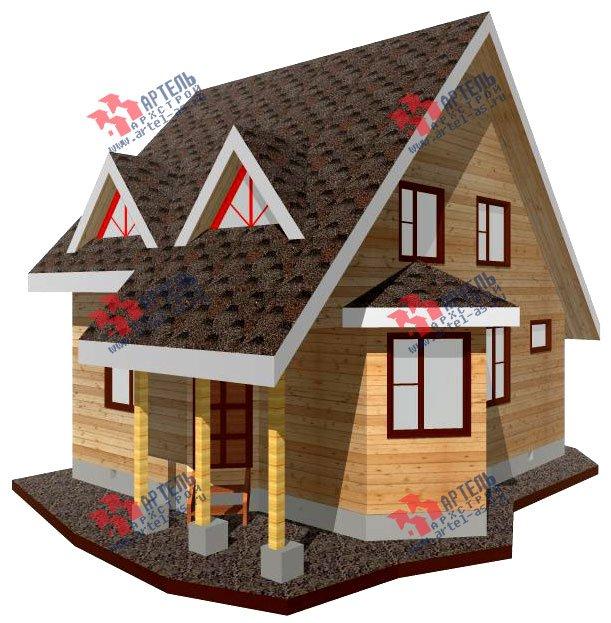 двухэтажный дом из профилированного бруса площадью до 100 кв. м. с  мансардой, эркером, проект Вариант 7 В фотография 797