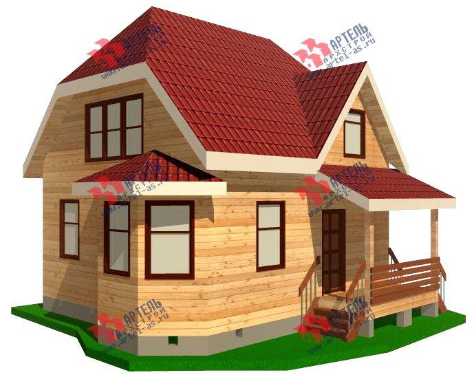 двухэтажный дом из профилированного бруса площадью до 100 кв. м. с  мансардой, эркером, проект Вариант 7 Е-1 фотография 835