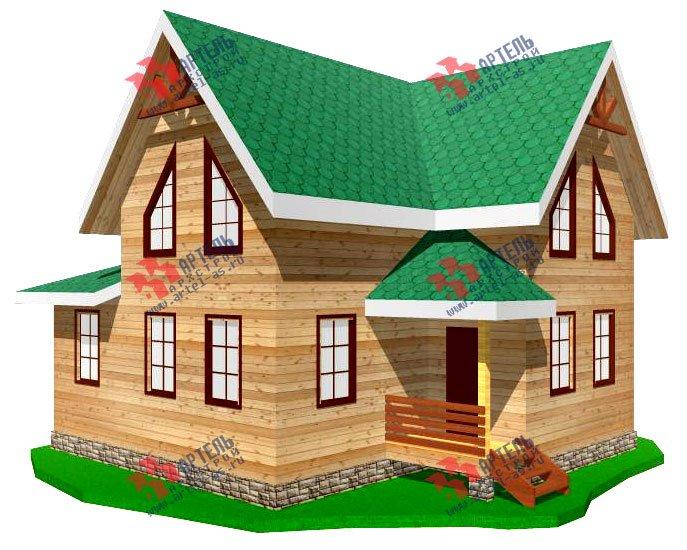 двухэтажный дом из профилированного бруса площадью от 100 до 150 кв. м. с  мансардой, проект Вариант 7.3 Б фотография 924