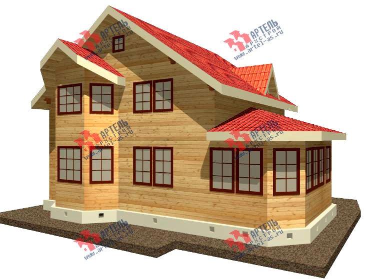 двухэтажный дом из бруса площадью от 150 до 200 кв. м. с  мансардой, эркером, проект Вариант 8.4 К фотография 1227