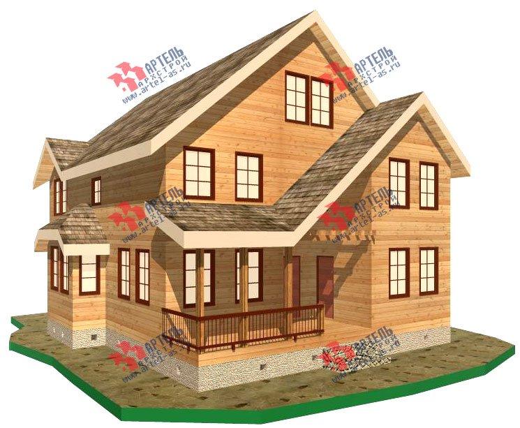 двухэтажный дом из бруса площадью свыше 200 кв. м. с  террасой, эркером, проект Вариант 15.1 А фотография 1493